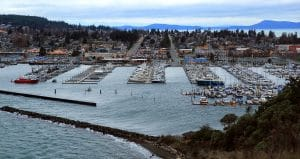 Anacortes, WA Harbor Aerial View